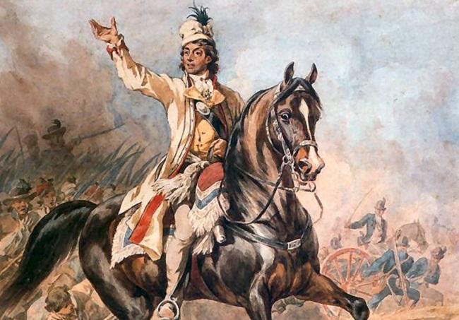 Equestrian portrait of Tadeusz Kościuszko by Juliusz Kossak. Image: Wikimedia Commons, public domain