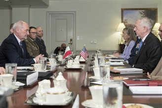 Polish, US defence officials discuss enhanced NATO presence