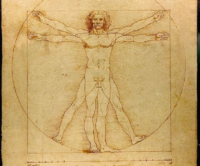 """Леонардо да Вінчі, """"Вітрувіанська людина"""""""