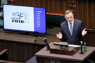 Polish president urges efforts to improve US-Europe ties