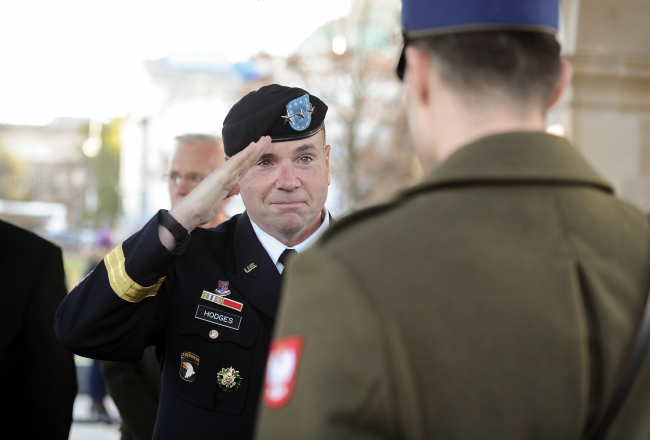 Lt. Gen. Hodges was in Warsaw on Sunday. Photo: PAP/Marcin Obara
