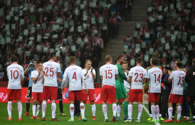 Poland during Friday's match against Uruguay. Photo: PAP/Bartłomiej Zborowski.