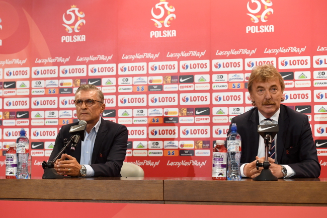 Adam Nawałka and Zbigniew Boniek, the head of Polish football's governing body. Photo: PAP/Piotr Nowak.