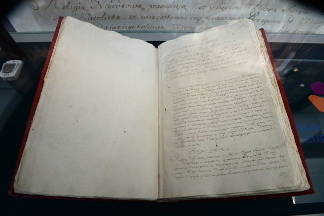 Original manuscript of Poland's 1791 constitution. Photo: PAP/Jacek Turczyk