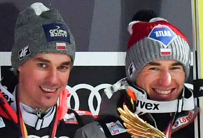 Polish ski jumpers Piotr Żyła and Kamil Stoch. Photo: Ailura, CC BY-SA 3.0 AT [CC BY-SA 3.0 at (https://creativecommons.org/licenses/by-sa/3.0/at/deed.en)], via Wikimedia Commons
