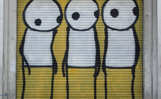 One of Stik's murals, London. Photo: Wikimedia Commons
