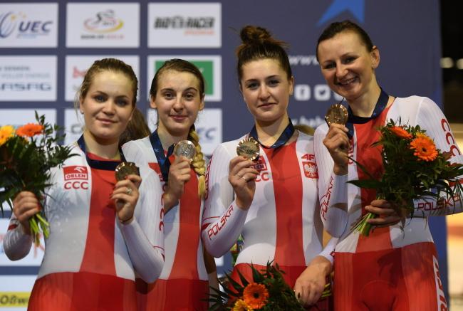 Justyna Kaczkowska, Katarzyna Pawłowska, Daria Pikulik, and Nikol Płosaj. Photo: PAP/Bartłomiej Zborowski.