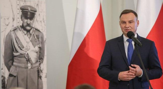Prezydent Andrzej Duda podczas inauguracji Komitetu obchodów 100-lecia odzyskania niepodległości. Foto: prezydent.pl