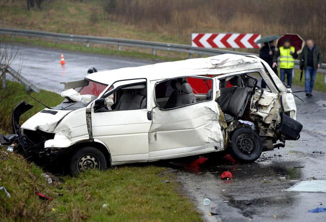 The scene of the crash. Photo: PAP/Darek Delmanowicz