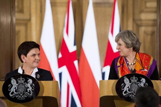 Polish Prime Minister Beata Szydło and UK Prime Minister Theresa May. Photo: KPRM/P Tracz.