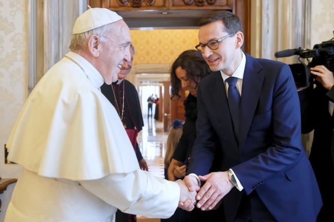 Pope Francis and Prime Minister Mateusz Morawiecki. Photo: PAP/Krystian Maj.