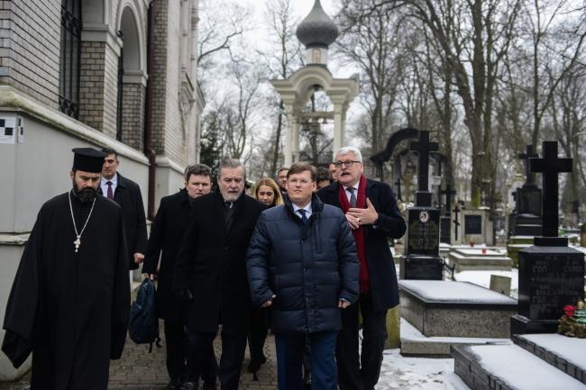Польская и украинская делегации во время встречи в Варшаве.