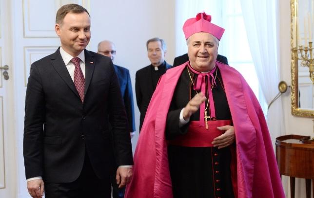 President Andrzej Duda and Archbishop Salvatore Pennacchio. Photo: PAP/Jacek Turczyk