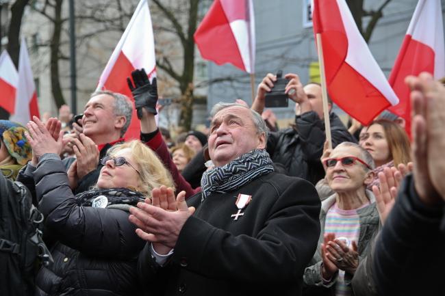 """Демонстрация """"Граждане за демократию"""" в Варшаве"""