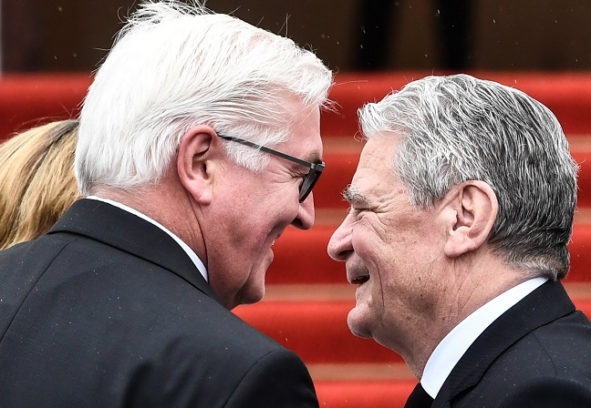 New German President Frank-Walter Steinmeier and his predecessor Joachim Gauck. Photo: EPA/Filip Singer.