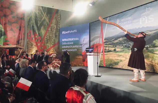 Начало конвенции правящей в Польше партии «Право и справедливость» в рамках предвыборной кампании в Европейский парламент в гмине Кадзидло