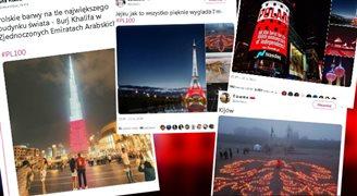 Świat oddał hołd Polsce. Biało-czerwone iluminacje