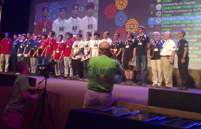 The Warsaw team (black) won a bronze medal. Photo: Facebook/ ICPC World Finals 2015