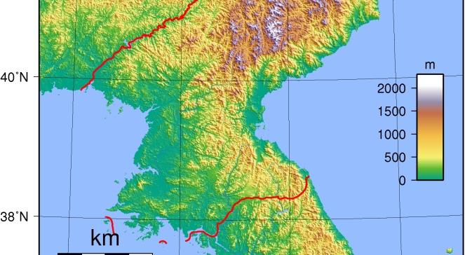 Північна Корея на межі з Південною Кореєю