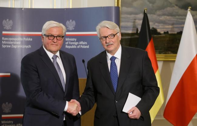 Außenminister Witold Waszczykowski und Bundespräsident Frank-Walter Steinmeier (2016)