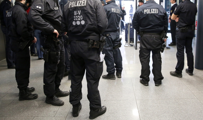 German police. Photo: EPA/Bernd Wuestneck