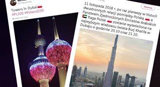 """""""Biało-czerwona"""" na najwyższym budynku świata"""
