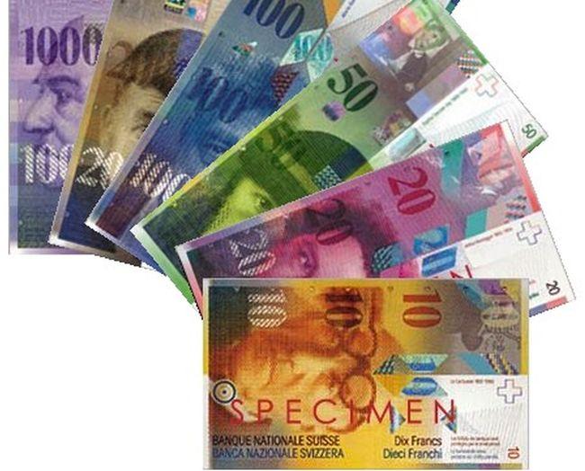 Валюта Швейцарии - франки.