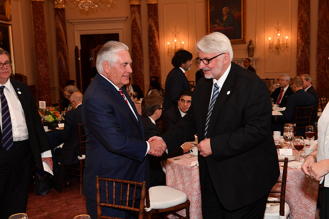 Rex Tillerson and Witold Waszczykowski. Photo: US State Department (Pubic Domain)