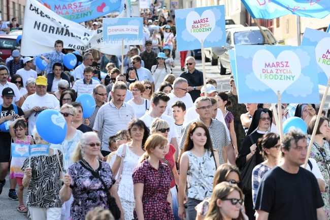 Pro-life marchers in the eastern city of Lublin on Sunday. Photo: PAP/Wojciech Pacewicz