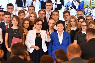 Polish PM hands out state awards to teachers, students