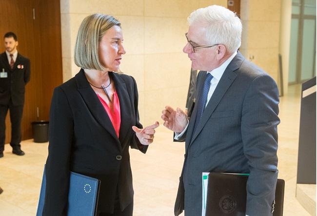Federica Mogherini and Jacek Czaputowicz. Photo: TYMON MARKOWSKI/MSZ