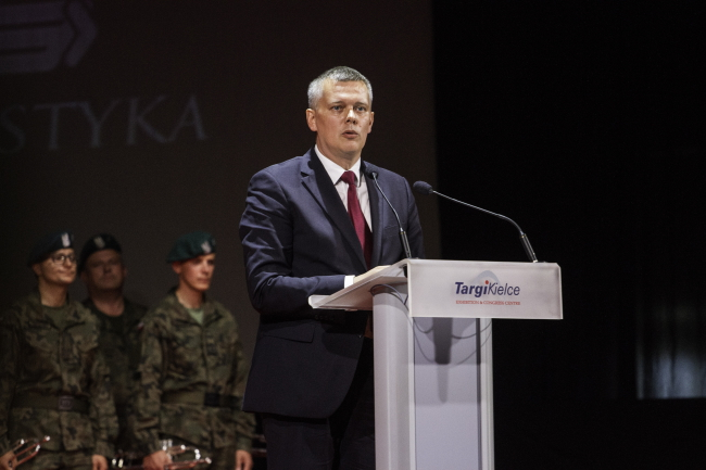 Minister of Defence Tomasz Siemoniak at this week's International Defence Industry Fair in Kielce. Photo: PAP/Michał Walczak