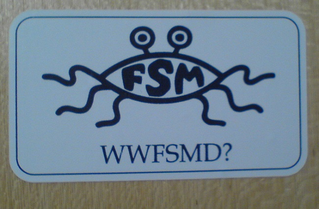 The logo of the Church of the Flying Spaghetti Monster. Photo: Flickr.com/Lasse Havelund