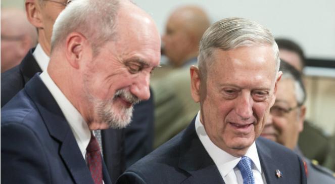 Szef MON Antoni Macierewicz i amerykański sekretarz obrony James Mattis