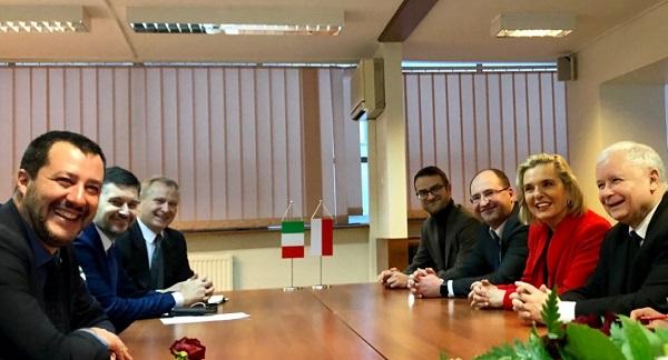 Встреча Ярослава Качиньского и Маттео Сальвини в Варшаве