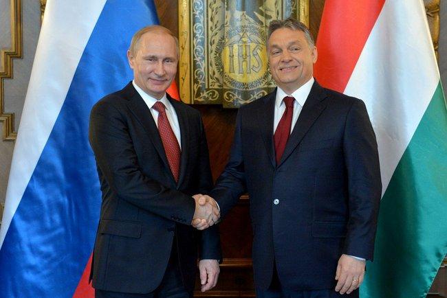 Владімір Путін і Віктор Орбан, 17 лютого 2015 року