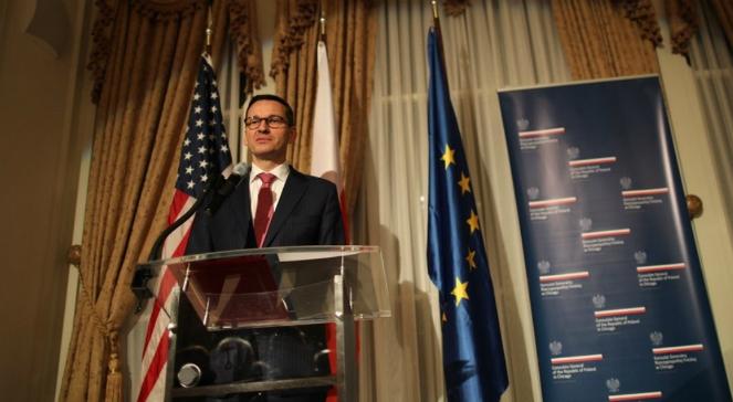 Mateusz Morawiecki podczas spotkania z przedstawicielami amerykańskiego biznesu w Chicago