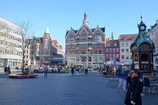 Площадь Культорвет в Копенгагене, где произошло первое нападение