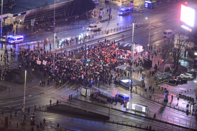 Demonstrators in Warsaw. Photo: PAP/Jakub Kamiński