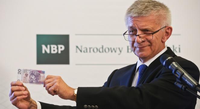 Marek Belka proud of the Polish currency. Photo: PAP/Rafał Guz