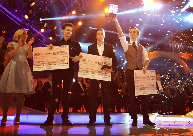 Łukasz Dyczko (R) won the competition on Saturday. Photo: Facebook.com/Eurovision Song Contest