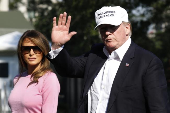 Президент Дональд Трамп з дружиною - 01.07.2018р