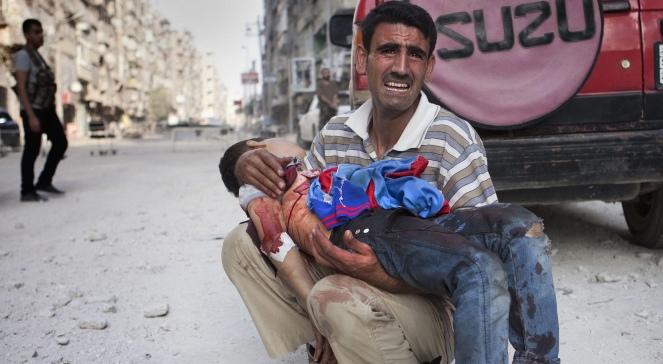 Syria, Aleppo, cywilna ofiara walk