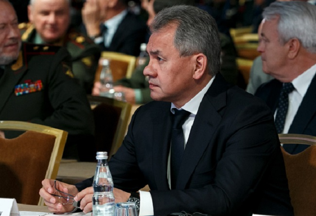 Russian Defence Minister Sergey Shoigu at the Moscow Conference on International Security. Photo: eng.mil.ru.