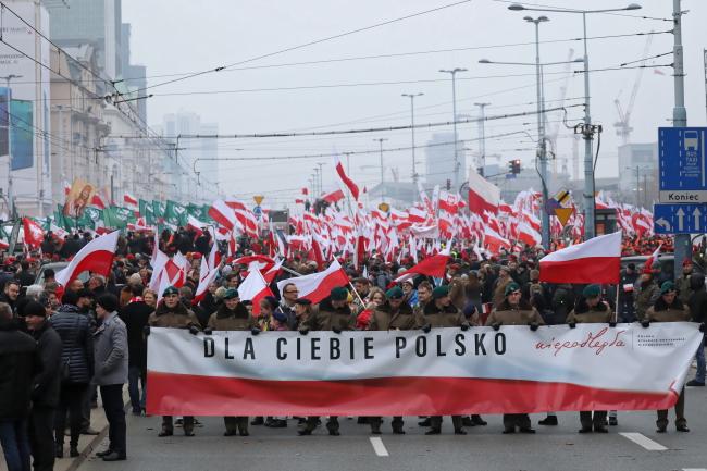"""Бело-Красный марш """"Тебе, Польша"""" в Варшаве (11 ноября 2018 г.)"""