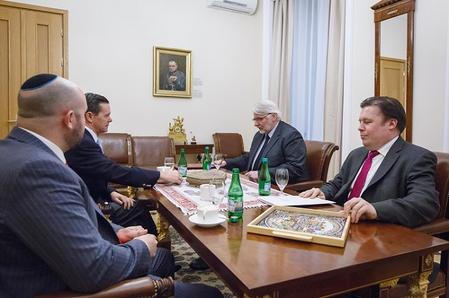 Poland's Foreign Minister Witold Waszczykowski (second right.) Photo: msz.gov.pl