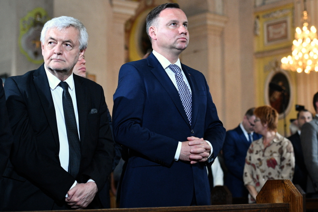 Polish President Andrzej Duda at a mass held at the St. Peter and Paul Cathedral in the city of Luck marking the 75th anniversary of the Volhynia Massacre. Photo: PAP/Jacek Turczyk