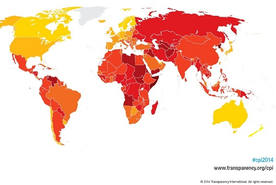 Foto: http://www.transparency.org/cpi2014/results