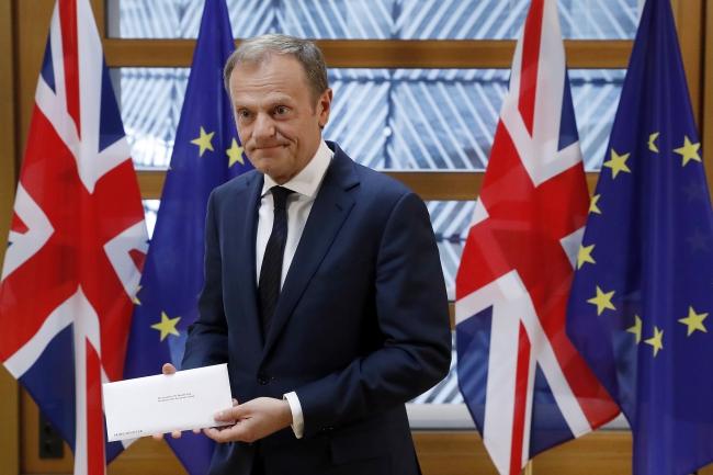 29 березня 2017 року Велика Британія передала офіційне клопотання у справі виходу з ЄС