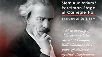 HIGH NOTE :: Paderewski Gala at Carnegie Hall